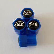 KIA BLUE Plastic Wheel Valve Dust caps all models 7 colour SORENTO RIO SOUL NIRO