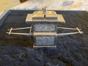 Japanese Silver Salt Caddy ca.1820?