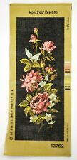 Royal Paris Needlepoint Roses Bouquet of Wall Tapestry Needlework Flower Floral