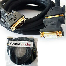 5M DVI-I Extension Cable -LCD/PC Monitor Lead- Male to Female Dual Link Video