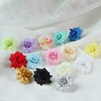 5 Pcs Artificial Fake Silk Flowers Head Floral Garland DIY Decor Wedding M9S8