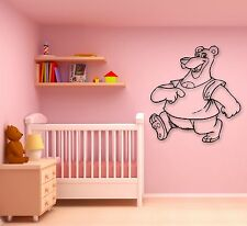 Wall Stickers Vinyl Decal Cheerful Cartoon Bear Children's Room (ig746)