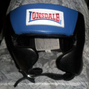 NIP Lonsdale Amateur Competition Headgear Head Guard US Boxing Spec Blue Size XL