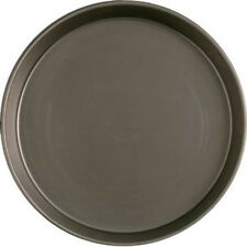 PACK OF 10 x 12'' BASE DEEP PAN PIZZA PANS BLACK IRON/MILD STEEL