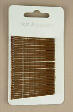 Card of 36 Hair Grips Blonde Brown Black Bobby Pins Kirby Grips Slides Clips