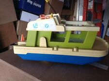 Vintage 1972 Fisher Price Little People Play Happy Family Houseboat Boat #985