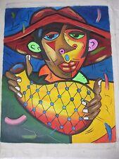 CUBAN Art Oil Oleo Painting Arte Cubano  Cuba OLD HAVANA ( EL CHEQUERE )