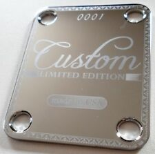 NECK PLATE - 0001 Ltd Edition - Custom - Made in USA -chrome - guitare et basse