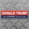 TRUMP make america great again - bumper sticker 184mm x 58mm