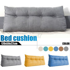 47In Cushion Triangular Pillow Wedge Reading Lumbar Backrest Bedside F/ Bed Us