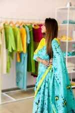 New Bagru Wax Batik Cotton Saree Printed Hand Block Cotton Soft Malmal Saree