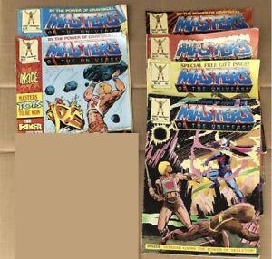 6x He Man Masters Of The Universe MOTU Comics — # 10 15 33 38 46 52 — 1980's