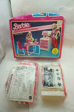 VINTAGE BARBIE DOLL DREAM FURNITURE COLLECTION DINING CENTER 4337 1982 MIB d