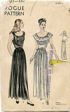 1940's VTG VOGUE Misses'  Nightgown Pattern 5901 Size 14