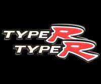 3D Aluminum TYPE-R Car Front/Rear Badge Fender Body Emblem Decal Stickerx2