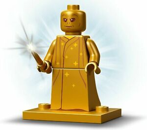 Lego Minifigure Voldemort 20th Anniversary PEARL GOLD Harry Potter 76389 hp312