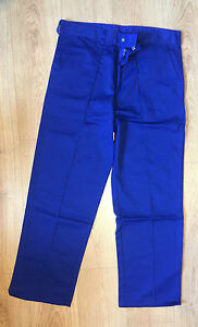 """Worksafe Superior Royal Blue Work and Driver Trousers 32"""" Waist Reg Leg"""