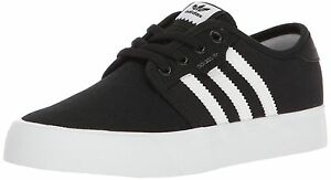 """Adidas Seeley J Black/White Skateboard Junior Shoes BY3838 """"NEW"""" Fast Shipping"""