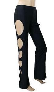 YOURS Paris Womens Pants Cutout Black Stretch Size S €198