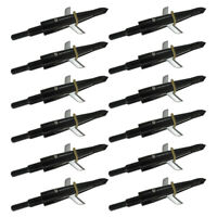 12Pcs Swhacker Broadheads 100 Grain Arrowhead Compound Bow Crossbow Tips