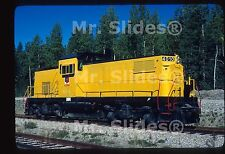Original Slide Canada:  Aquitane Fresh Paint ex SP&S/BN ALCO C415 4010 In 1981