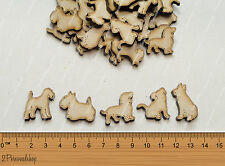 50 Wooden Dogs Shapes Craft Scrapbook Mdf Kids Gift Card Making