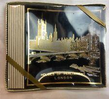 VINTAGE GOLD ACCENT HOUSE OF PARLIAMENT LONDON  SOUVENIR ASHTRAY