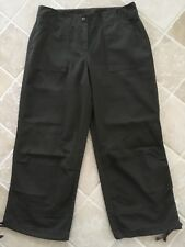 WOMENS, WITCHERY,  CAPRI CROP WIDE PANTS, SIZE 8, DARK GREEN, POLY/COTTON #1270