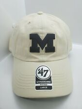 Michigan Wolverines '47 Franchise Cream-Colored Fitted Large Hat Cap New