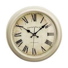 Premier Housewares Vermont Wall Clock, Round Clay Colour Plastic, Roman Numerals