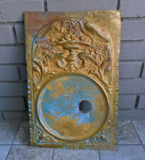 Antique FRENCH BRASS CLOCK SURROUND - Ornate - Steampunk-  RESTORATION