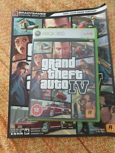 Grand heft Auto 4 Xbox 360 Game And Strategy Guide Book