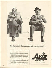 1955 Vintage ad for Avis Rent-A-Car`Steering Wheel Hat Suits  081217