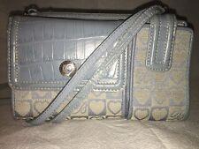 Brighton Light Blue Wallet On A String / Crossbody
