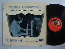 LANDOWSKA Bach: Goldberg Variations LP IMPORT 1st Ed. U.K. HMV ALP1139  DG