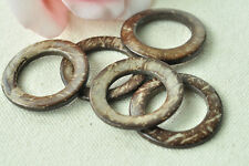20pcs Natural Coconut Shell Ring Round Coco Wood Bead Handmade Accessory Craft