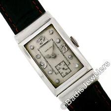 Vintage Platino Quadrante con Diamanti Americana Hamilton Meccanico 982 19j