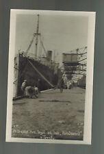 1919 Real Picture Postcard Czech Legion  Ship at Dock in Vladivostock Russia