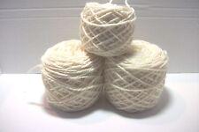 unlabeled  acrylic bulky 2 ply yarn 3 balls/7.2 oz total ivory