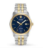 $325 Citizen Corso Eco-Drive Blue Dial Two-tone Men's Watch BM7334-58L