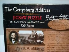 "The Gettysburg Address  18"" x 24"" 750 Pieces Jigsaw Puzzle NEW"
