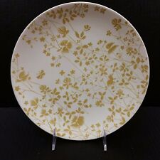 "Sheffield Ironstone Golden Meadow Dinner Plate Ivory Gold Floral 10"" Vintage MCM"