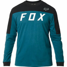 FOX RACING Men's Grizzled Long Sleeve Airline Knit Tee t shirt MAUI BLUE LARGE L