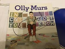 OLLY MURS    -   IN CASE YOU DIDNT KNOW    -  SIGNED  CD LP  -   AUTHENTIC UACC