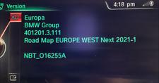 BMW NEXT Europe 2021-1 NBT Sat Nav update, Pro Nav, F30 F11 F10 F07 X1 X3 X5 X6