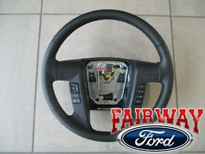 11 thru 14 F-150 OEM Ford Black Leather Steering Wheel w/ Switches Cruise & Sync