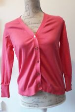 Zara Size M uk 12 Knit Pink Cardy Cardigan Fab LOOK