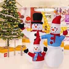 4' Christmas Snowman Inflatable Air Blown Outdoor Blow Up Garden Yard Decoration