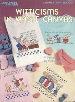 Witticisms Waste Canvas Cross Stitch Patterns Leisure Arts 784 Gray Hare Mother