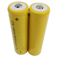 2pc 18650 3.7V 9800mAh Yellow Li-ion Rechargeable Battery cell For Torch Dreamed